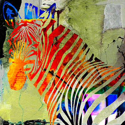 Zebra Mixed Media - Zebra by Marvin Blaine
