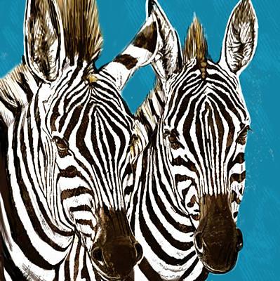 Zebra - Stylised Drawing Art Poster Print by Kim Wang
