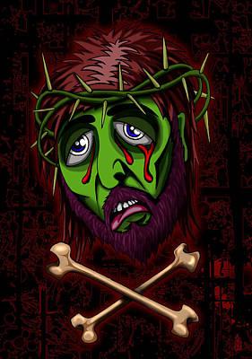 Hartwell Digital Art - Zombie Superstar by Steve Hartwell
