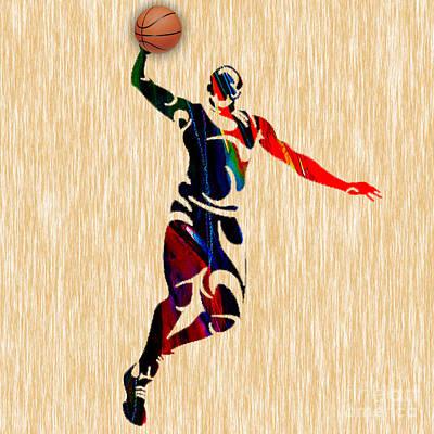 Ball Mixed Media - Basketball by Marvin Blaine