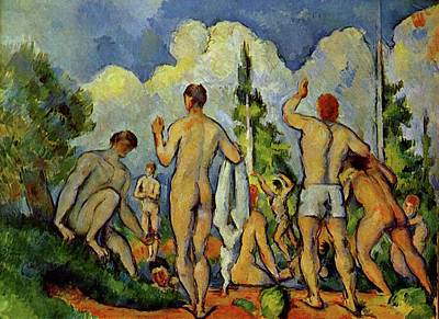 Paul Cezanne Painting - Bathers by Paul Cezanne
