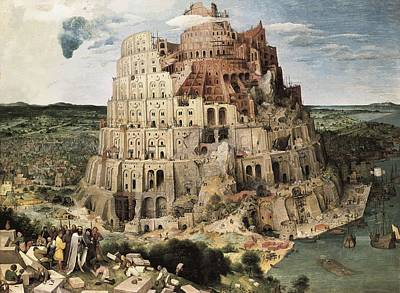 Babel Photograph - Breugel, Pieter, The Elder, Called by Everett