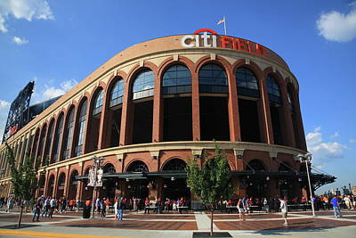 Citi Field - New York Mets Print by Frank Romeo