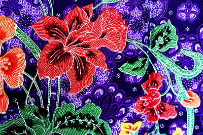 Homemade Quilts Tapestry - Textile - Colorful Batik Cloth Fabric Background  by Prakasit Khuansuwan