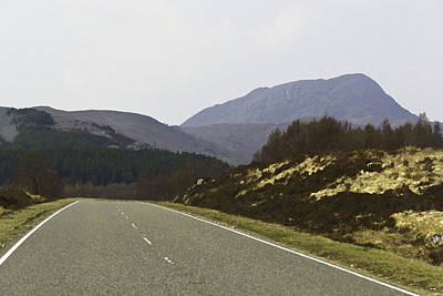 Highway Running Through The Wilderness Of The Scottish Highlands Print by Ashish Agarwal