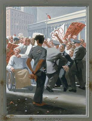 Via Dolorosa Painting - 10. Jesus Before The People / From The Passion Of Christ - A Gay Vision by Douglas Blanchard