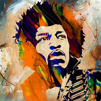 Hip Mixed Media - Jimi Hendrix Collection by Marvin Blaine