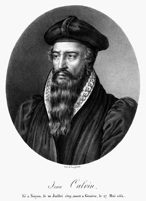 Calvin Painting - John Calvin (1509-1564) by Granger