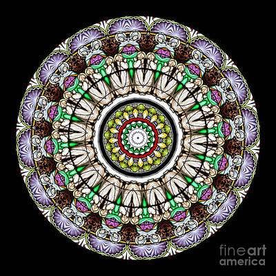 Angel Photograph - Kaleidoscope Stained Glass Window Series by Amy Cicconi