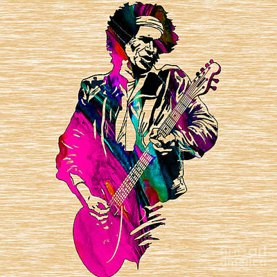 Musicians Mixed Media - Keith Richards Collection by Marvin Blaine