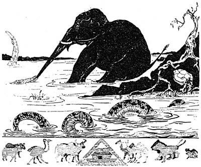 Alligator Drawing - Kipling Just So Stories by Granger