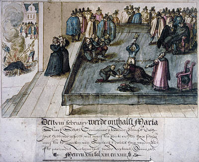 Beheading Painting - Mary, Queen Of Scots (1542-1587) by Granger