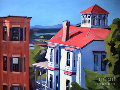 Southie Painting - 10 O'clock Light by Deb Putnam