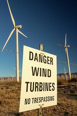 Part Of The Tehachapi Pass Wind Farm Print by Ashley Cooper
