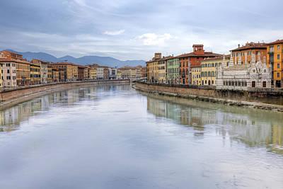 Gothic Bridge Photograph - Pisa by Joana Kruse