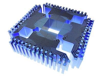 Circuit Photograph - Quantum Computer by Alfred Pasieka