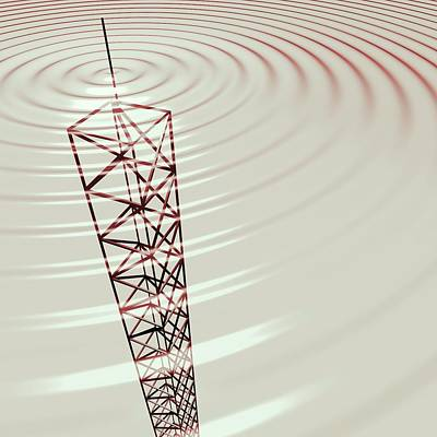 Radio Communications Tower Print by Russell Kightley