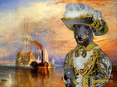 Scottish Dog Painting - Scottish Deerhound Art Canvas Print by Sandra Sij