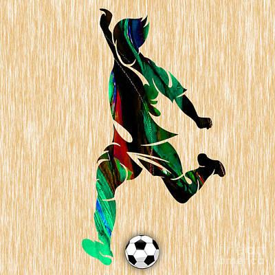 Soccer Print by Marvin Blaine