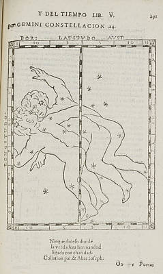 Que Photograph - Star Constellations And Heavenly Bodies by British Library