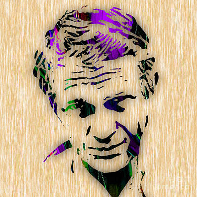 Celebrities Mixed Media - Steve Mcqueen Collection by Marvin Blaine