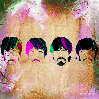 Ringo Starr Mixed Media - The Beatles Collection by Marvin Blaine