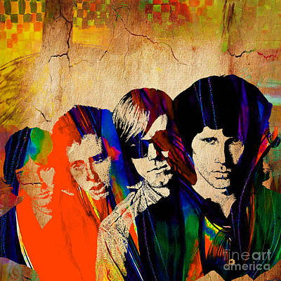 Music Mixed Media - The Doors by Marvin Blaine