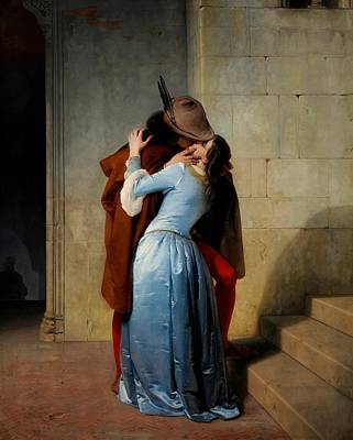 Reunification Of Italy Painting - The Kiss by Francesco Hayez