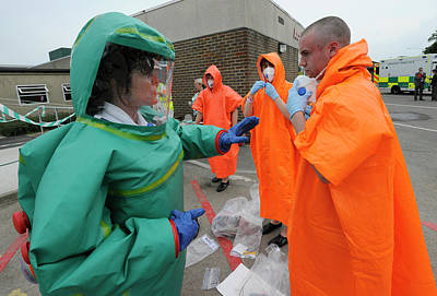 Clothes Clothing Photograph - Training Exercise For Major Emergency by Public Health England