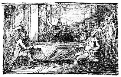 Treaty Of Paris, 1783 Print by Granger