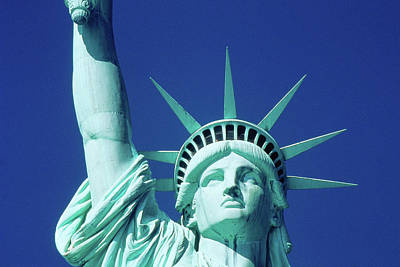 Statue Of Liberty Torch Photograph - Usa, New York, Statue Of Liberty by Panoramic Images