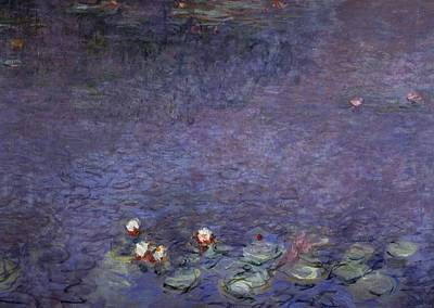 Used Painting - Water Lilies by Claude Monet