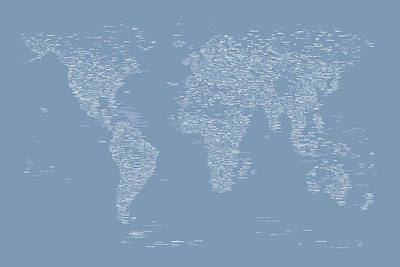 Geography Digital Art - World Map Of Cities by Michael Tompsett