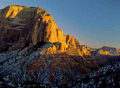 Clear Weather Photograph - Zion National Park, Utah by Scott T. Smith