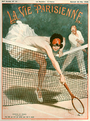 Magazine Cover Drawing - 1920s France La Vie Parisienne Magazine by The Advertising Archives