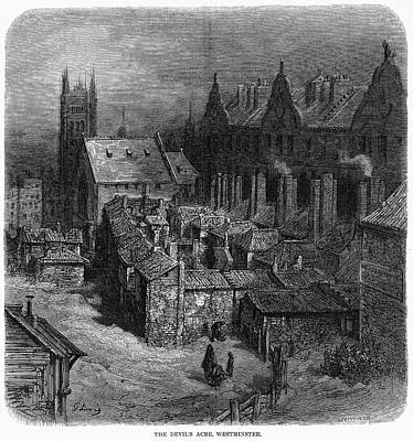 Rooftops Painting - Dor� London 1872 by Granger