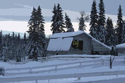 Digital Art - 100 Mile Christmas by Angela Hansen