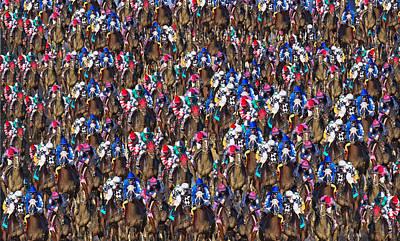 Jockey Digital Art - 1000 Horses by Betsy C Knapp