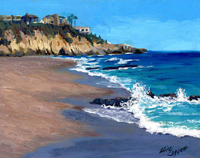 Riviera Painting - 1000 Steps Beach In Laguna Beach California by Alice Leggett