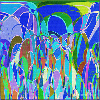 1014 Abstract Thought Print by Chowdary V Arikatla