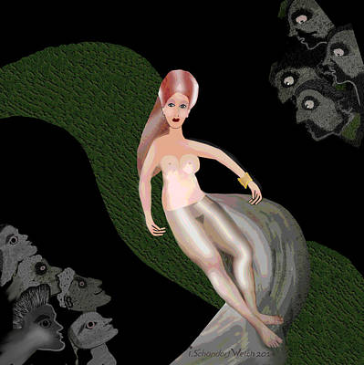 Spectators Digital Art - 1058 - Crazy Whirl ... by Irmgard Schoendorf Welch