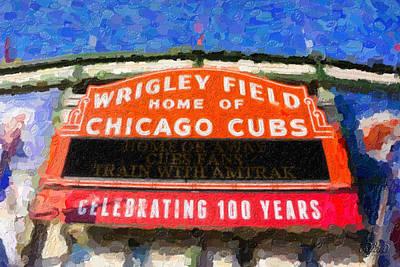 Wrigley Field Digital Art - 1060 W. Addison by Ryan Cosgrove