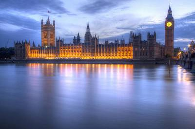 London Skyline Photograph - Big Ben And The Houses Of Parliament  by David French