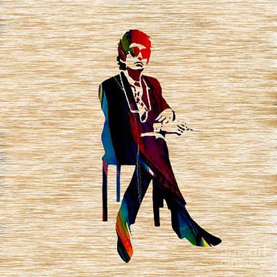 Bob Dylan Print by Marvin Blaine
