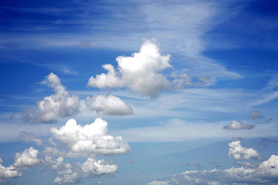 Cumulus Photograph - Clouds by Les Cunliffe