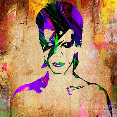 David Bowie Collection Print by Marvin Blaine