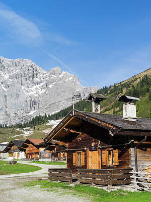 Dairy Farming Photograph - Eng Valley, Karwendel Mountain Range by Martin Zwick