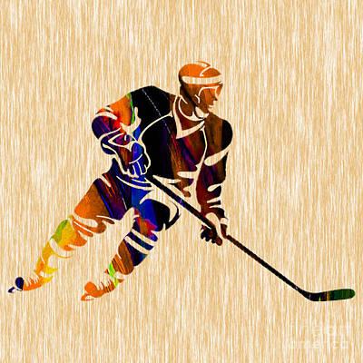 Hockey Mixed Media - Hockey by Marvin Blaine