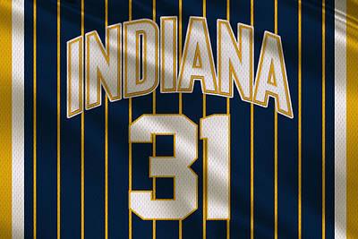 Indiana Photograph - Indiana Pacers Uniform by Joe Hamilton