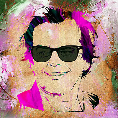 Jack Nicholson Collection Print by Marvin Blaine